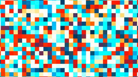 Illustration of abstract colorful square geometric surface, minimal square grid pattern