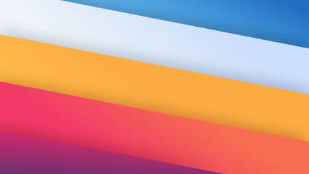 abstract wallpaper from shapes filled colorful gradient and drop shadow 写真素材