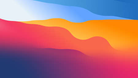abstract wallpaper from wavy shapes filled colorful gradient