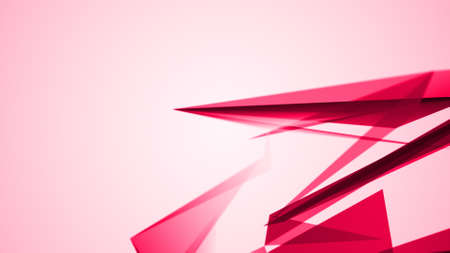 geometric abstraction, pink geometrical triangulation with random position,  abstract illustration 写真素材