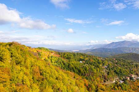 View of mountain range in national park Mavrovo, North Macedonia Фото со стока