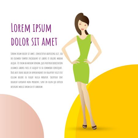 Girl vector Ilustration Vector-02 Standard-Bild - 105912491