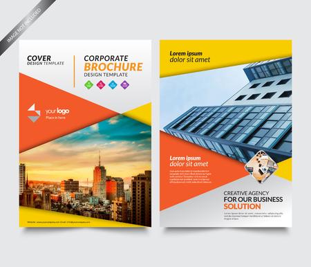 Cover Corporation Design Template, Annual Report Template