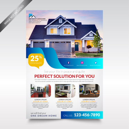 Real Estate Flyer template , Brochure Design 矢量图像
