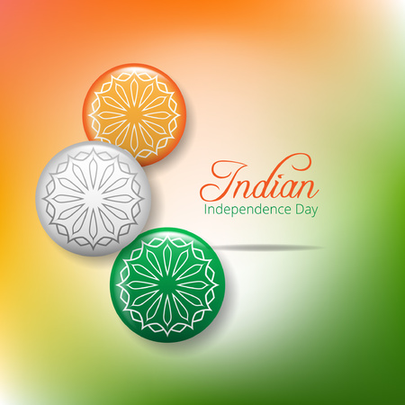 Creative Indian Independence Day concept with ashoka wheel Illustration