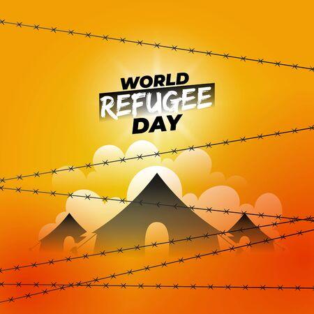 World refugee day design. Perfect for banner 免版税图像 - 147314113