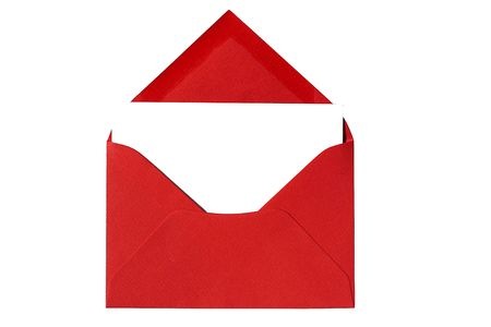 notecard: Red Envelope with Notecard Stock Photo