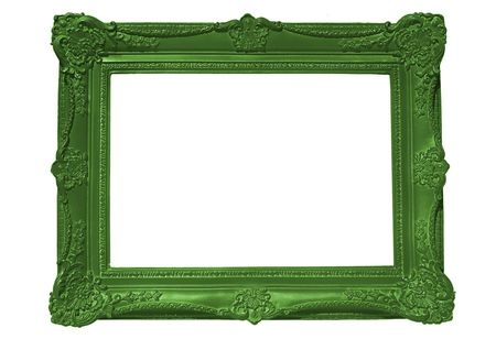 green frame: Frame, empty for your text or image Stock Photo