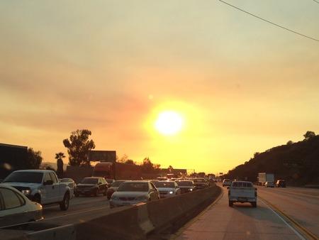 blazing: Blazing sun over highway