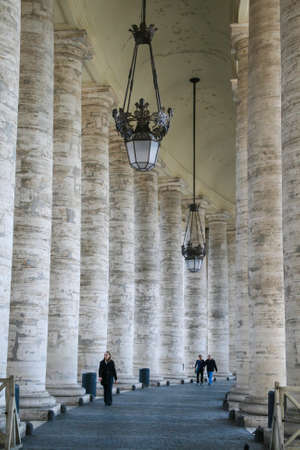 Vatican colonnades in Rome