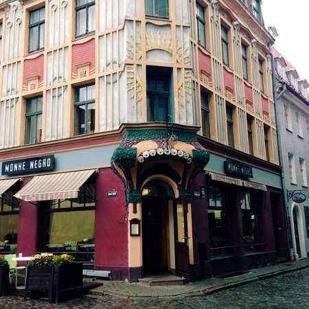 art: Art nouveau building in Riga