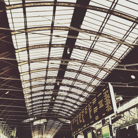 rafters: Paddington station, Victorian Ironwork rafters Stock Photo