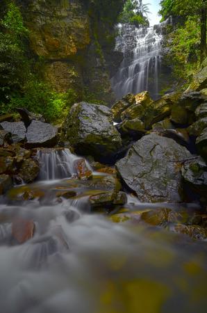 pahang: Pelangi Waterfall in Pahang, Malaysia Stock Photo