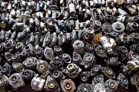 Metal scrap the used car parts