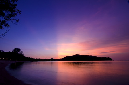 magic hour: Sunset glowing view while magic hour in Pangkor Island, Malaysia