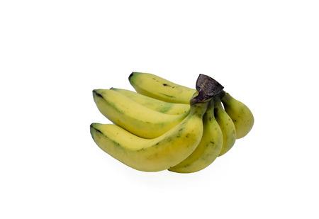 Close up shot banana on isolate background.