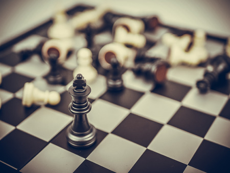 chess board game concept of business ideas and competition Фото со стока