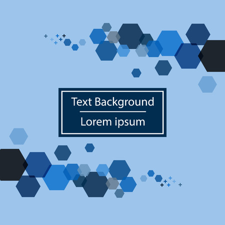 Blue background template with blue hexagon shapes illustration Иллюстрация