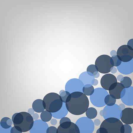 Illustration of a background template with blue circle shapes