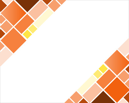 Abstract square geometric colorful mosaic background with copy space Иллюстрация