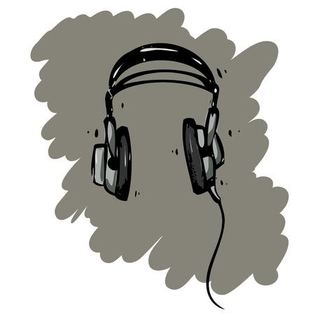 Sketchy headphones Ilustracja