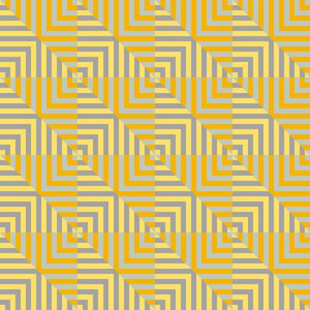 vierkant gestreept Naadloze geometrische patroon in geel en oranje kleuren. Vector.
