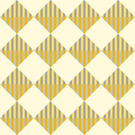 rhombic: Rhombic striped seamless geometric pattern in yellow and orange colors. Vector.