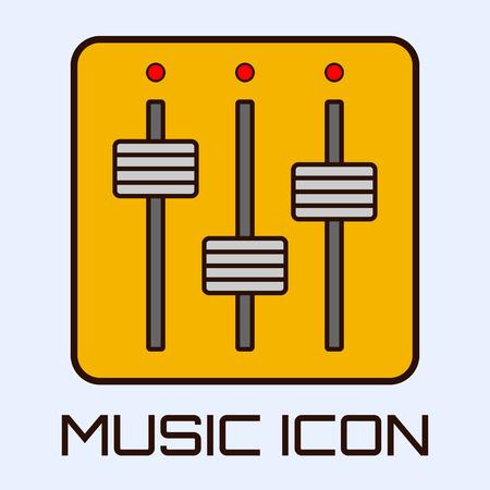 Flat muzikale icoon van de mengtafel. Vector graphics.