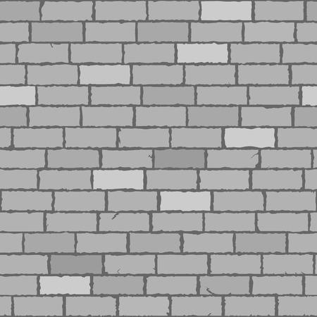 Seamless brick wall monochrome vector background
