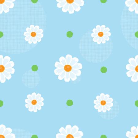 Bloemen naadloze patroon op een blauwe achtergrond. Vector.