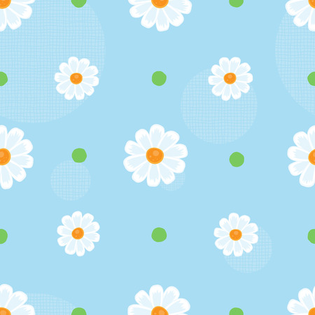 Floral seamless pattern on a blue background. Vector. Ilustracja