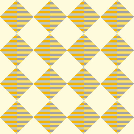 Rhombic striped seamless geometric pattern in yellow and orange colors. Vector.