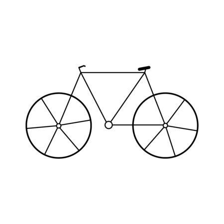 Bicycle icon. Elements of transport icon. Premium quality graphic design icon. Signs and symbols collection icon for websites, web design, mobile app on white background Illusztráció