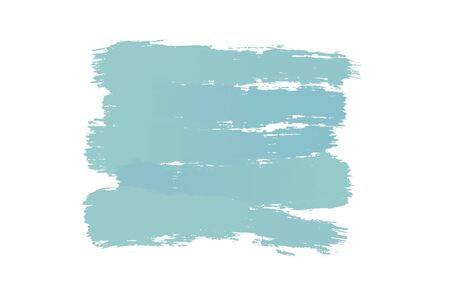 Blue watercolor abstract background. Beautiful spreading paint on white watercolor paper. Hand painting.