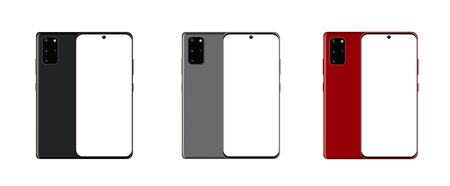 Front and back side new model Galaxy smartphone.