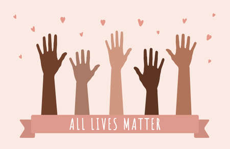 Black lives matters. Stop racism and violence. I can t breathe. Social poster and web banner. Modern vector illustration in flat style. Illusztráció