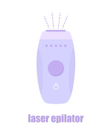 Photo and laser epilator. Hair removal procedure. Sign for beauty salon. Modern vector illustration in flat cartoon style.
