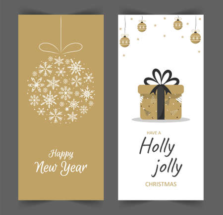 Christmas stories template. Social media vertical backgrounds. New Year design in cute scandinavian style. Christmas gift and snowflakes for the design of their posts. Ilustração
