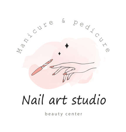 Vector template for nail art studio.