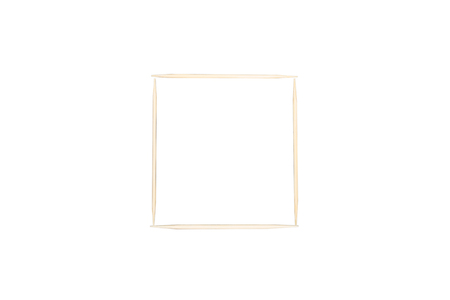 Toothpick, Square concept, isolated with white background
