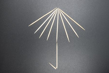 toothpick: Toothpick, Umbrella Stock Photo
