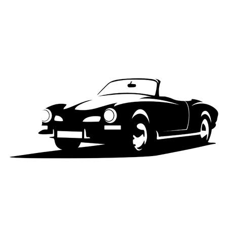 cabriolet: silhouette retro car