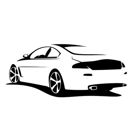 silueta coche: afinar la silueta del coche Vectores