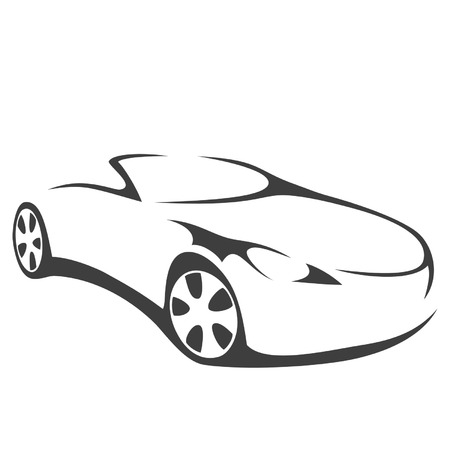 Car convertible silhouette Vector