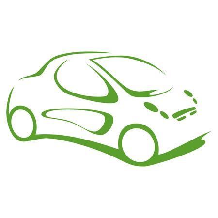 car leaf: Green electric car
