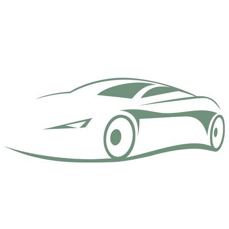 Silhouette voiture moderne Banque d'images - 31394347