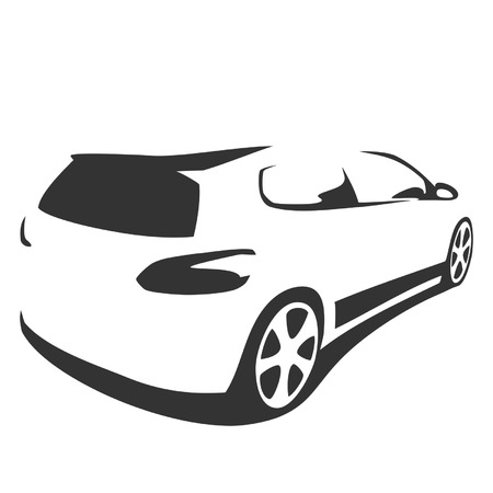 sports car silhouette Illustration