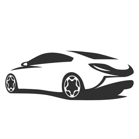 car tuning: Silhouette tuning car Illustration