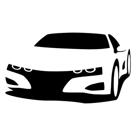 car speed: sports car silhouette Illustration