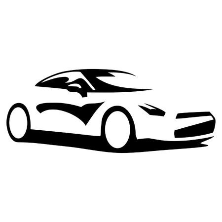 car tire: car silhouette Illustration